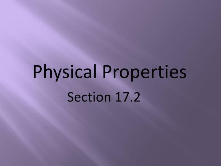physical properties n.