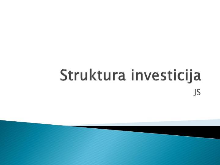 struktura investicija n.