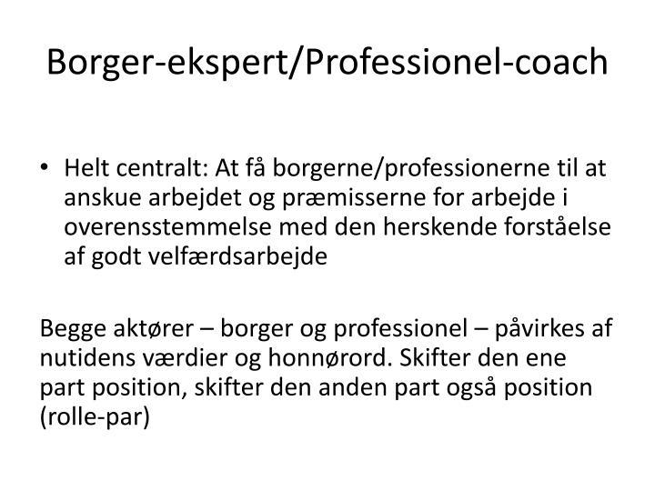 Borger-ekspert/Professionel-coach