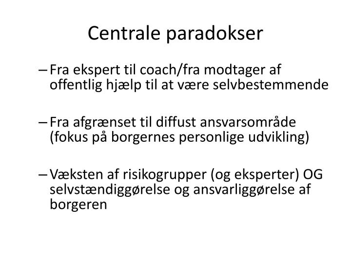 Centrale paradokser
