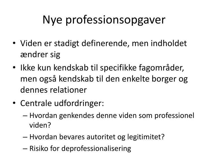 Nye professionsopgaver