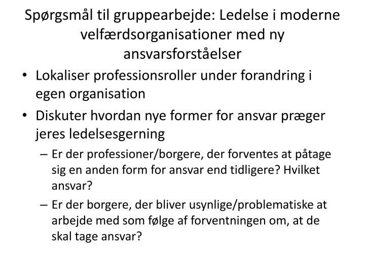 Spørgsmål til gruppearbejde
