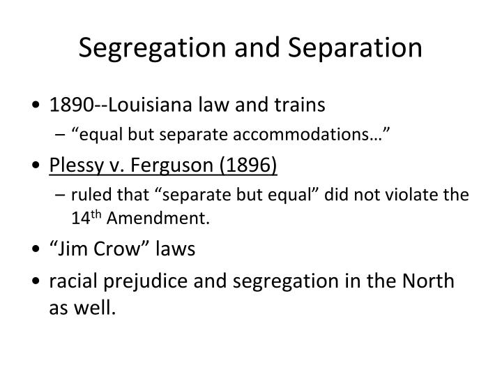 the segregation for separate but equal essay This work examines the implications of gender segregation in separate but (un)equal: gender segregated bus lines where the mantra of separate but equal.