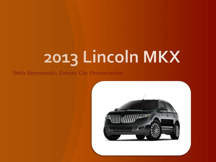 2013 lincoln mkx n.