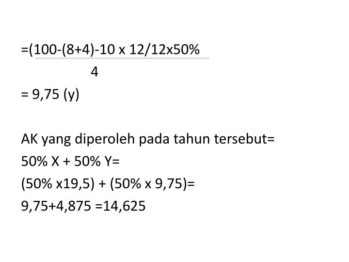 =(100-(8+4)-10 x 12/12x50%