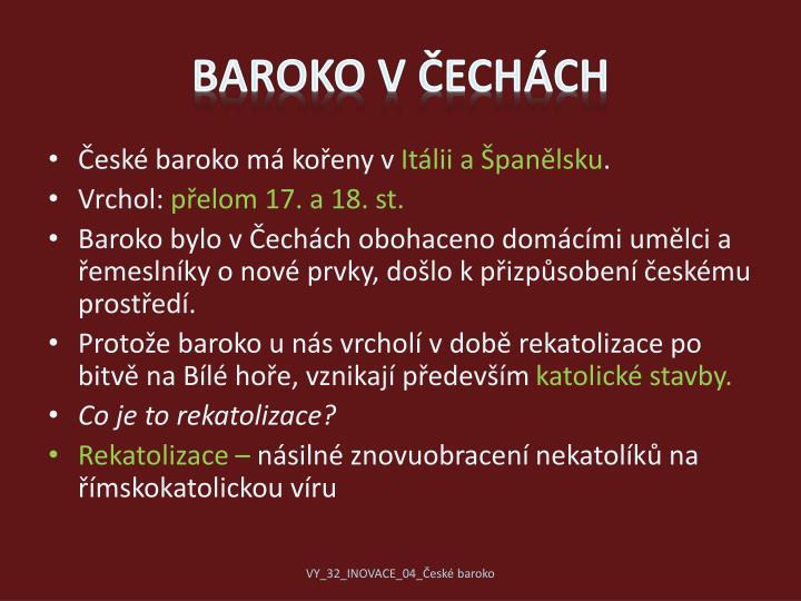 Baroko v ech ch