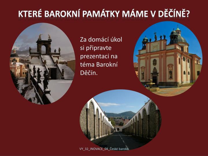 Které barokní památky máme v Děčíně?