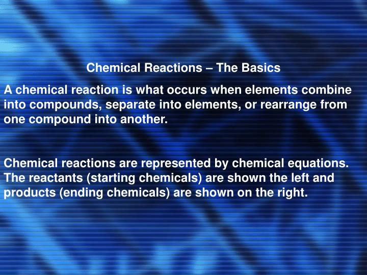 Chemical Reactions – The Basics