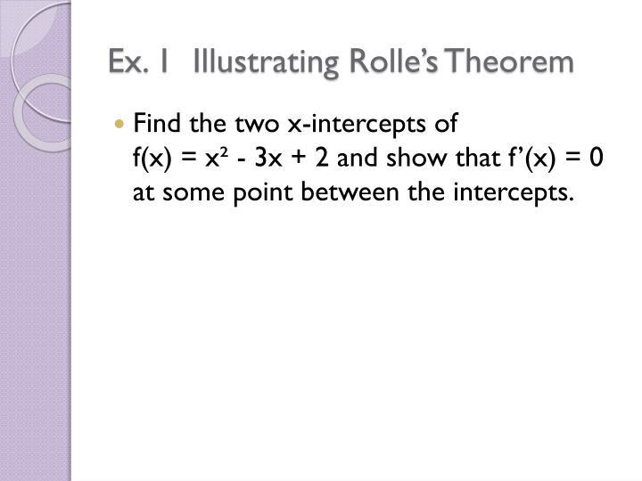 Ex 1 illustrating rolle s theorem