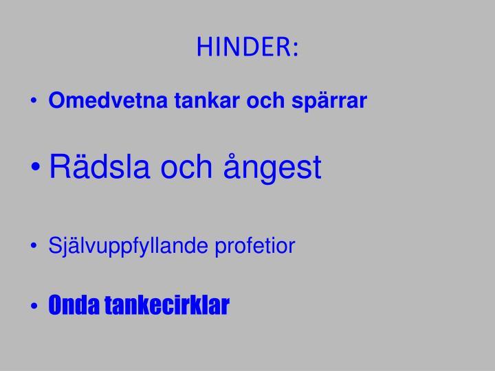 HINDER: