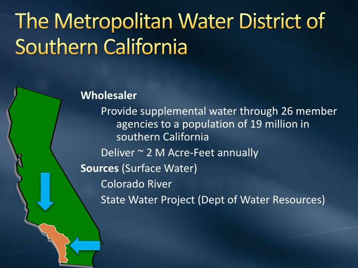The metropolitan water district of southern california
