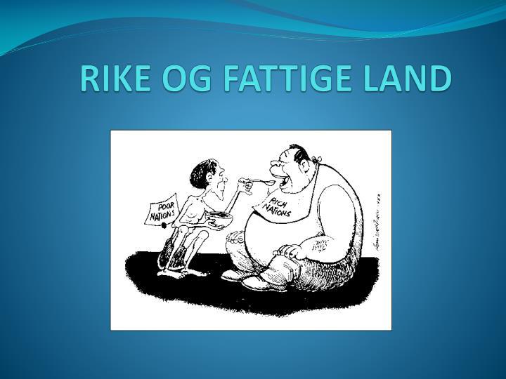 Ppt Rike Og Fattige Land Powerpoint Presentation Id