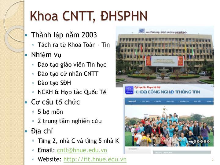 Khoa cntt hsphn