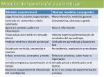 modelos de transmisi n y aprendizaje