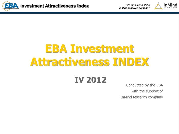 EBA Investment Attractiveness INDEX