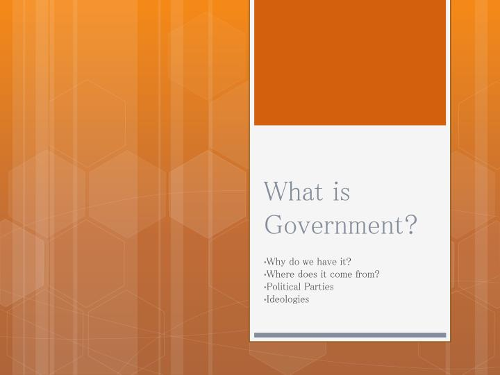 what is government n.