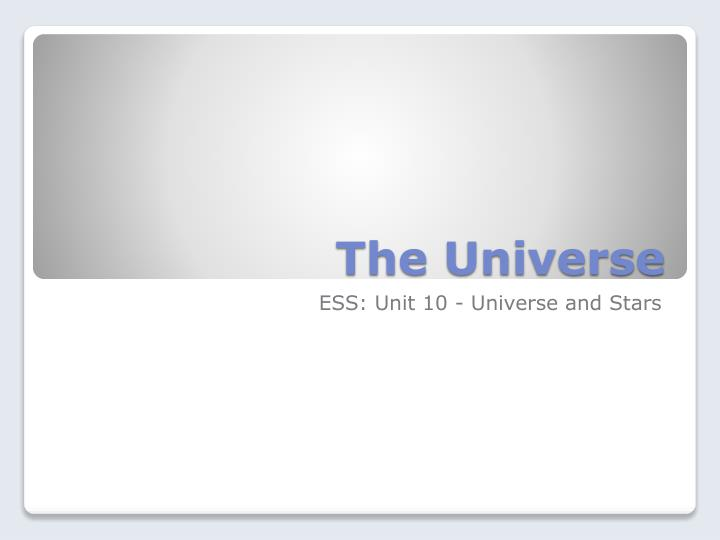 the universe n.