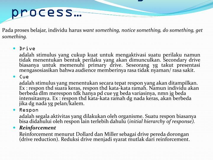 2. The learning process…