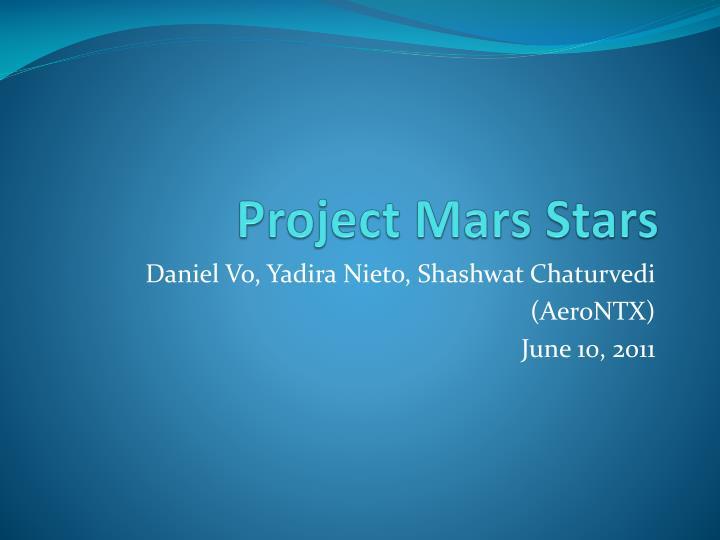 project mars stars n.