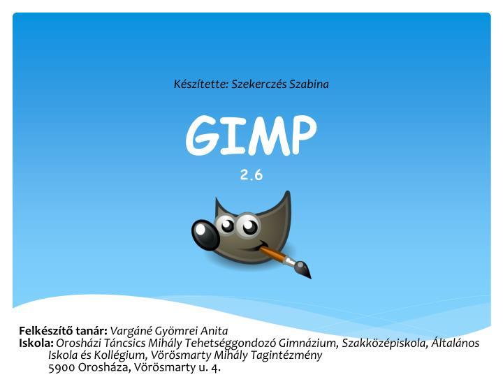 Gimp 2 6