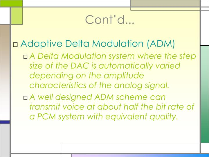 adaptive delta modulation circuit