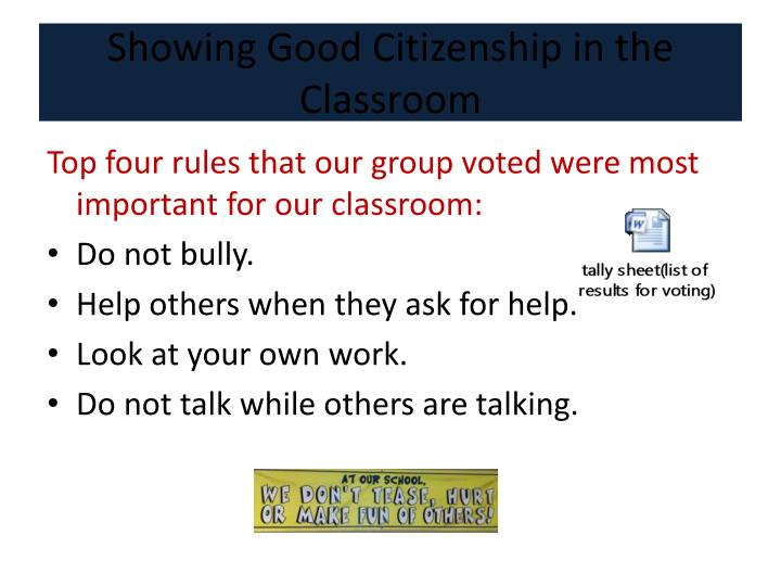 Showing Good Citizenship in the Classroom