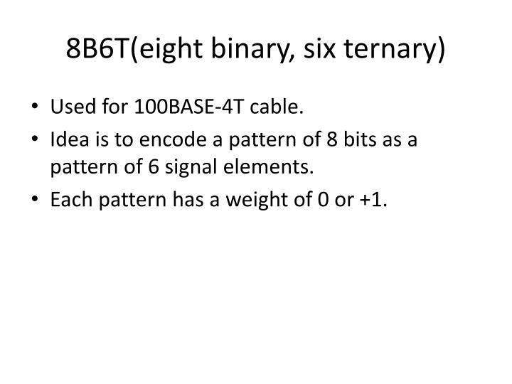 8B6T(eight binary, six ternary)