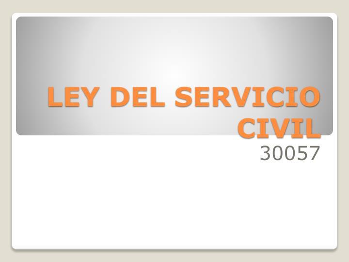 ley del servicio civil n.