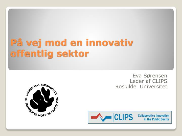 p vej mod en innovativ offentlig sektor n.