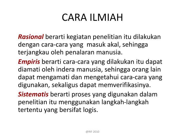 CARA ILMIAH