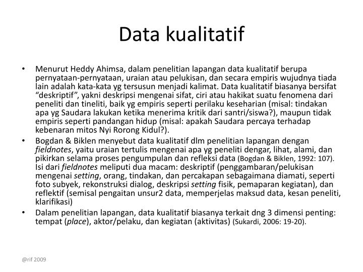 Data kualitatif