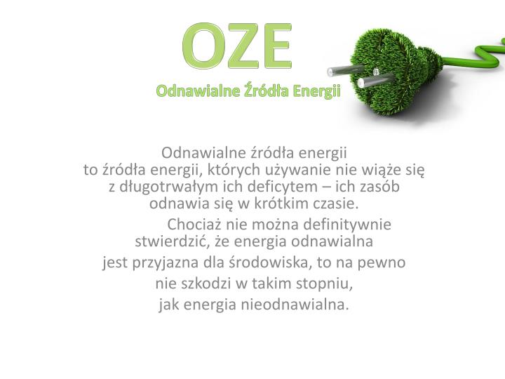 odnawialne r d a energii n.