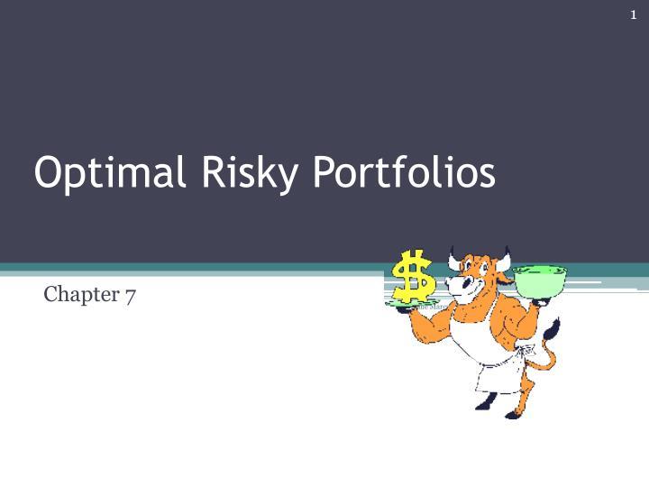 optimal risky portfolios n.