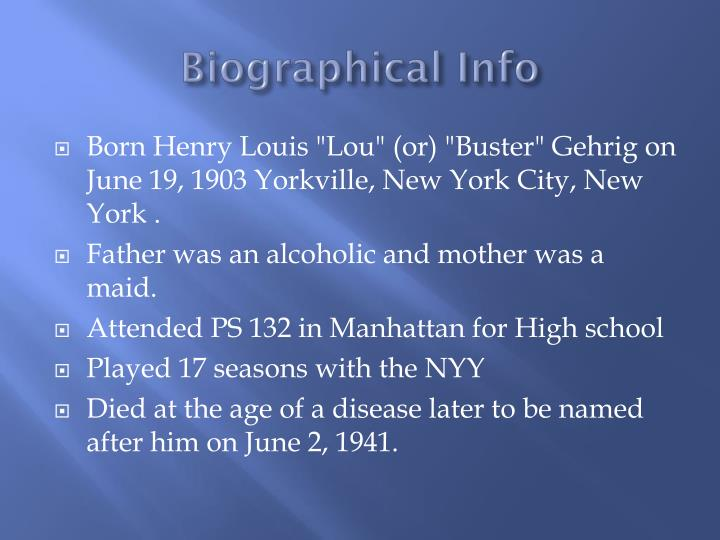 Biographical info