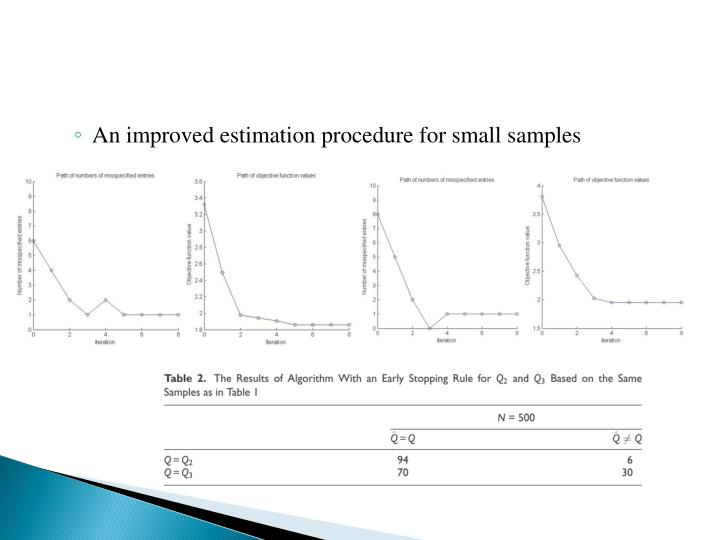 An improved estimation procedure for small samples