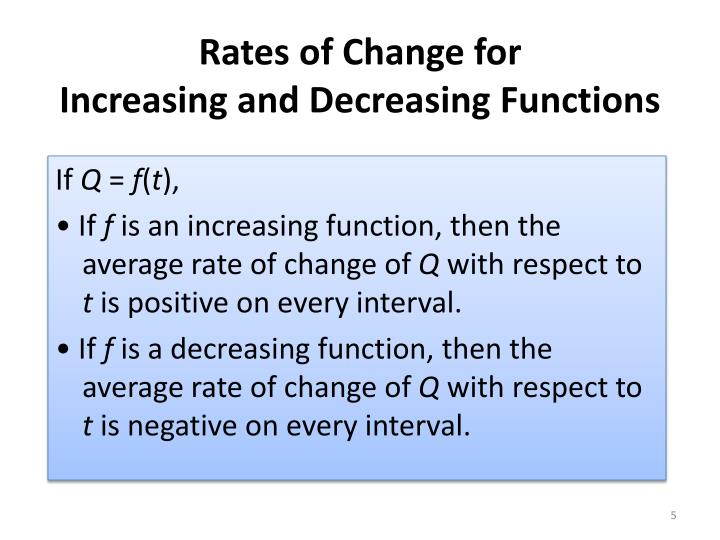 Rates of Change for