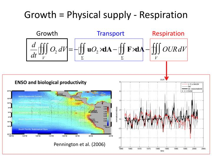 Growth = Physical supply - Respiration