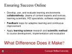 ensuring success online