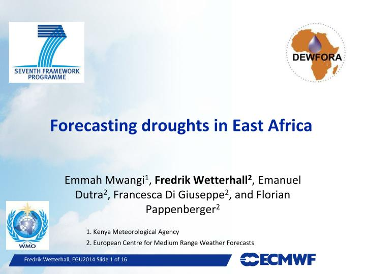 forecasting droughts in east africa n.