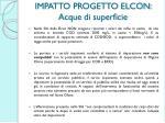 impatto progetto elcon acque di superficie