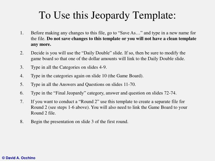 to use this jeopardy template n.