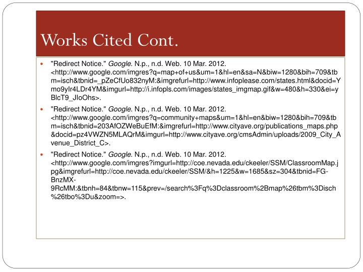 Works Cited Cont.
