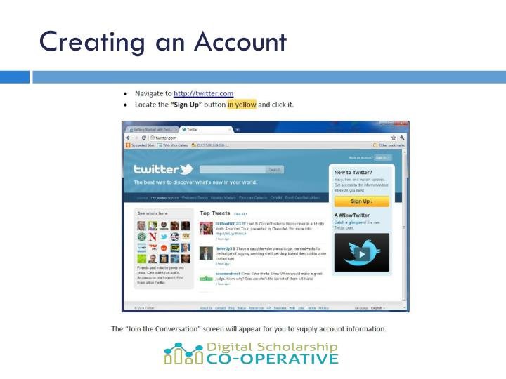 Creating an Account