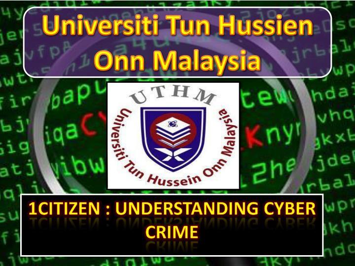 1citizen understanding cyber crime n.