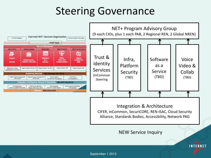 Steering governance