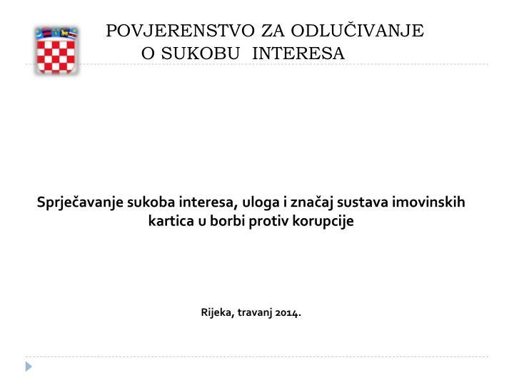 republika hrvatska povjerenstvo za odlu ivanje o sukobu interesa n.