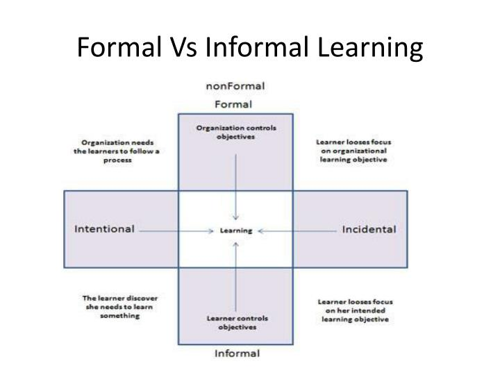 formal instruction against everyday education
