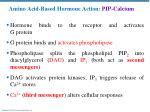 amino acid based hormone action pip calcium