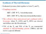 synthesis of thyroid hormone1
