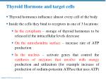 thyroid hormone and target cells